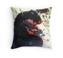 Darth Duck Throw Pillow