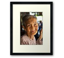 She still has a sparkle in her eye Framed Print