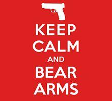 Keep Calm and Bear Arms Unisex T-Shirt