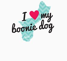 I Love My Boonie Dog (Blue) Womens Fitted T-Shirt