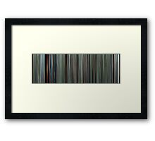 Moviebarcode: The Tree of Life (2011) Framed Print