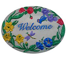 Welcome Sign Photographic Print