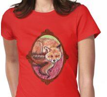 Fox sleeping Womens Fitted T-Shirt