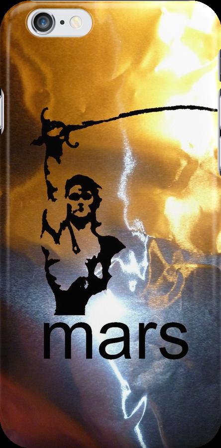 John Carter of Mars iphone metallic by Margaret Bryant