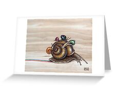 Snail back ride Greeting Card