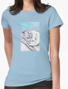 Cat sleeping Womens Fitted T-Shirt