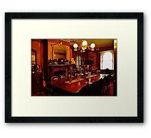 Monte Christo Formal Dining room.[Byo Spirits]. Framed Print