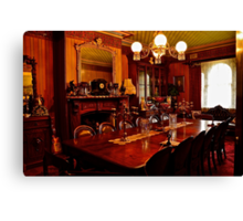 Monte Christo Formal Dining room.[Byo Spirits]. Canvas Print