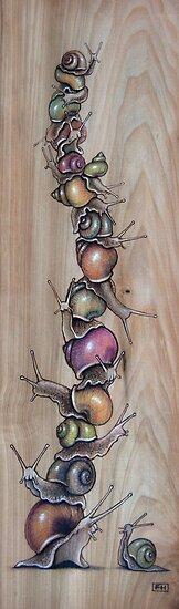 Snail Pile 03 by Fay Helfer