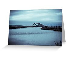 Landscape view of the Falkirk Wheel Greeting Card