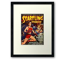 Women with Ray Guns Framed Print