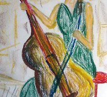 Barefoot Cello Busker by Alison Pearce