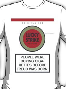 Lucky Strike Cigarette Box with Mad Men Quote T-Shirt