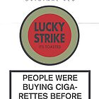 Lucky Strike Cigarette Box with Mad Men Quote by redandy