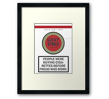 Lucky Strike Cigarette Box with Mad Men Quote Framed Print