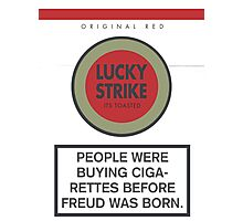 Lucky Strike Cigarette Box with Mad Men Quote Photographic Print