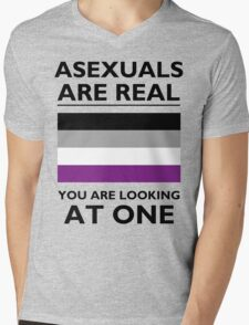 Asexuals are Real Mens V-Neck T-Shirt