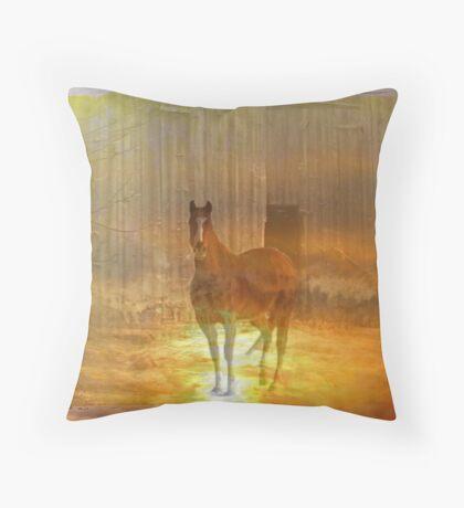 Haunted Horse Throw Pillow