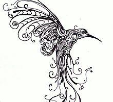 Hummingbird Pattern by Kate Gorrie