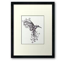 Hummingbird Pattern Framed Print