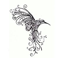 Hummingbird Pattern Photographic Print