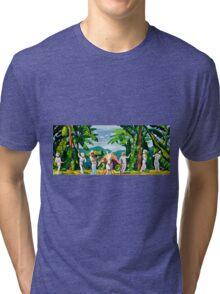 Banana Growers Harvest Vintage Advertisement Tri-blend T-Shirt