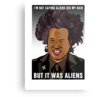 It was aliens.  Metal Print