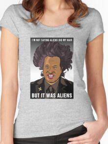 It was aliens.  Women's Fitted Scoop T-Shirt