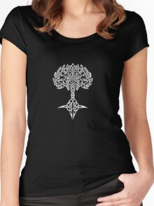 Celtic Tree - White Women's Fitted Scoop T-Shirt