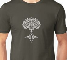 Celtic Tree - White Unisex T-Shirt