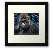 Portrait of an expressive Siverback Gorilla #2 Framed Print