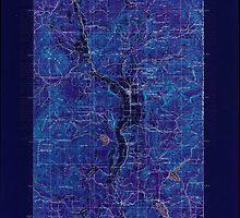 USGS Topo Map Washington State WA Chewelah 240465 1930 125000 Inverted by wetdryvac