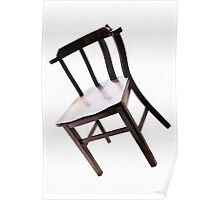 Chair on White Poster