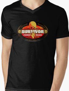 Survivor: Zombie Island Mens V-Neck T-Shirt
