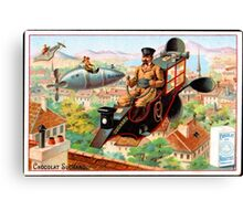 Flying Victorian Sci Fi Chocolate Delivery Canvas Print