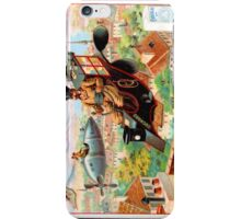 Flying Victorian Sci Fi Chocolate Delivery iPhone Case/Skin