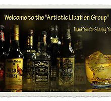 Welcome Banner Artistic Libation by Carmen Holly
