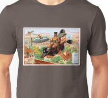 Flying Victorian Sci Fi Chocolate Delivery Unisex T-Shirt