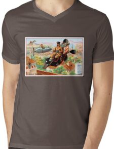 Flying Victorian Sci Fi Chocolate Delivery Mens V-Neck T-Shirt