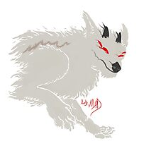 Ghostly Daemon Wolf Photographic Print