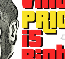 Vincent Price is Right Larger Sticker