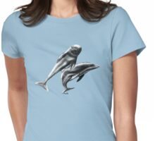 dolphins t-shirt Womens Fitted T-Shirt