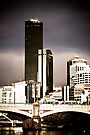 Melbourne across the Yarra by Andrew Wilson