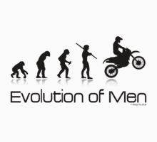 Evolution of Men- Off Road Motorcycle  T-Shirt