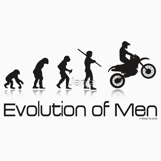 Quot Evolution Of Men Off Road Motorcycle Quot Stickers By Janja