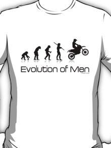 Evolution of Men- Off Road Motorcycle  T-Shirt