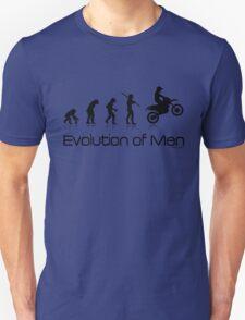 Evolution of Men- Off Road Motorcycle  Unisex T-Shirt
