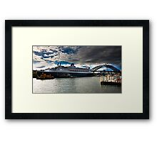Sydney Harbour with Queen Mary 2 Framed Print