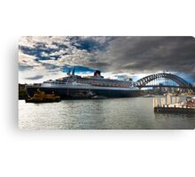 Sydney Harbour with Queen Mary 2 Metal Print