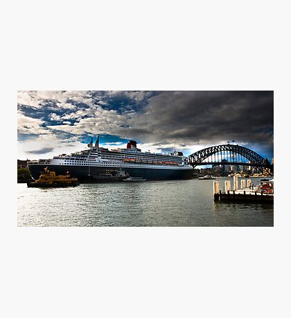 Sydney Harbour with Queen Mary 2 Photographic Print